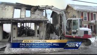 Blaze Destroys 140-year-old Emlenton Mill