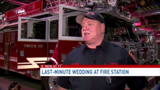Wedding held in Arlington County Fire Station