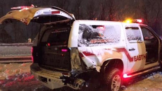 Conn. Fire Vehicle Hit, Two Injured