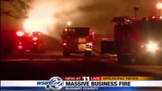 Multiple Departments Battle Massive Business Fire in Ind.