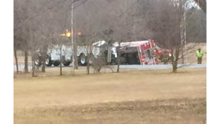 Belted Del. Firefighters OK After Crash