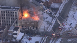 Philly Firefighters Tackling Shoe Store Blaze