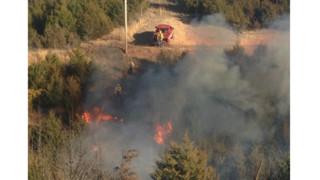 Photo Story: Three Brush Fires Keep Mo. Crews Busy