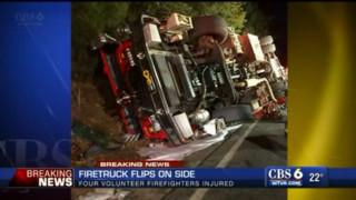 No Injuries in Va. Fire Truck Rollover