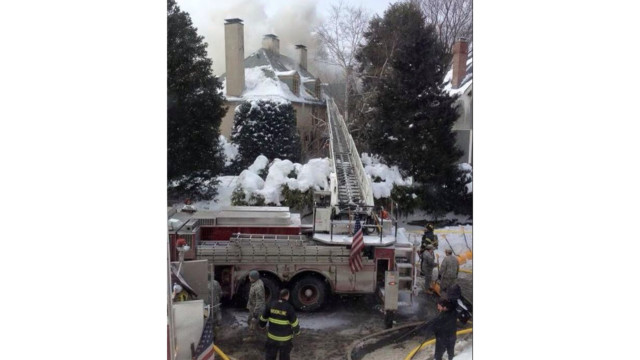 Mansion Fire Injures Three Mass. Firefighters