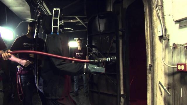 Navy Debuts Firefighting Robot Protype