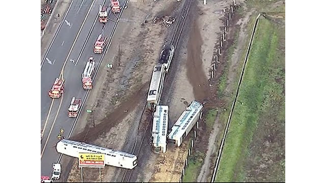 Raw: Calif. Commuter Train Strikes Truck