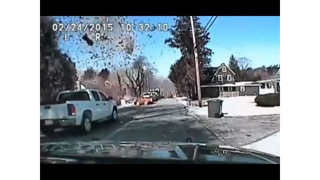N.J. blast caught on dash cam