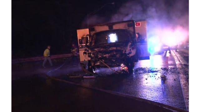 Two Ga. Ambulances Collide; Catch Fire