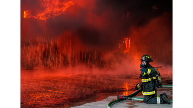 Photo Story: Blaze Engulfs Calif. Business