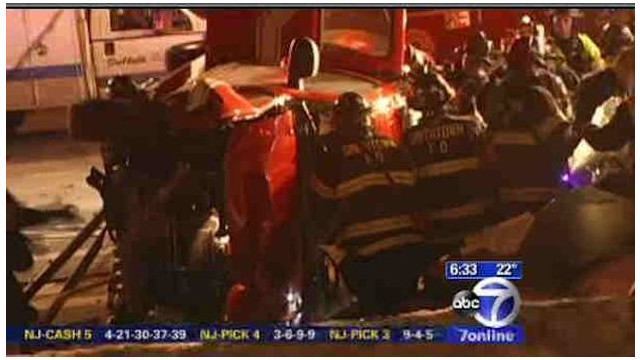 N.Y. Fire Chief Airlifted After Crash