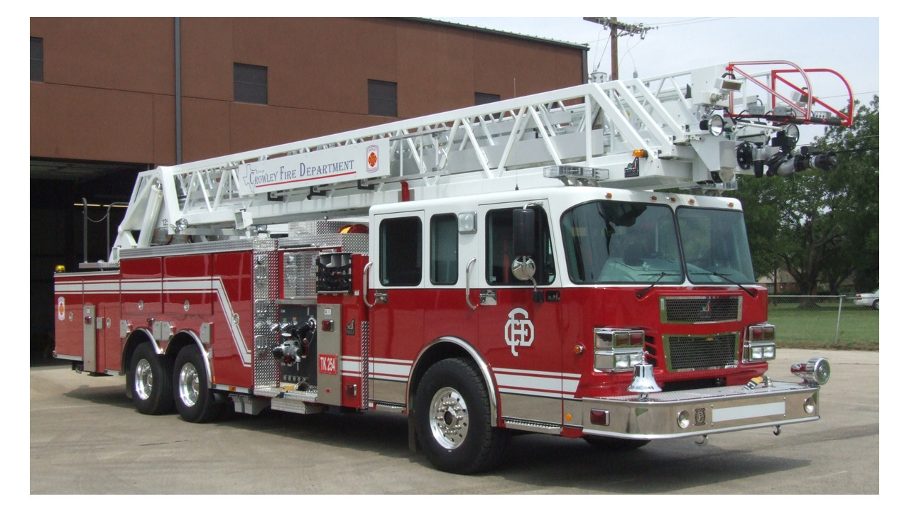 1280 x 720 jpeg 236kB, Crowley, Texas, Fire Dept. Adds 125-foot Aerial ...