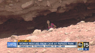 Hiker rescued from cave in Arizona
