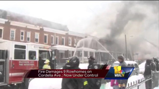 39 residents displaced after Baltimore fire