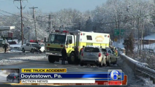 Pa. Firefighters Hurt in Fire Truck Crash