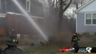 Missouri Firefighters Hit With Master Stream Blast From Aerial