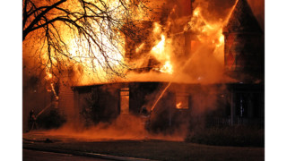 Photo Story: Flames Ravage Historic Texas Home