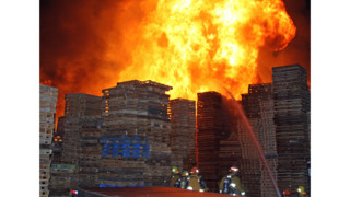 Photo Story: Flames Engulf L.A. Pallet Yard