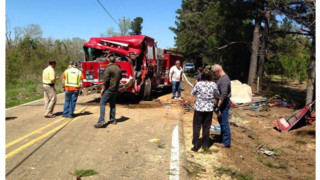 Miss. Firefighter Critical After Fire Truck Rolls
