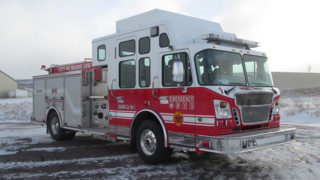 Saskatchewan Firefighters Keep Warm With Enclosed Pumper