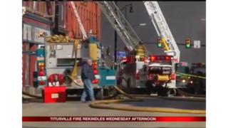 Rekindle Sparks Massive Fire in Pa. Community