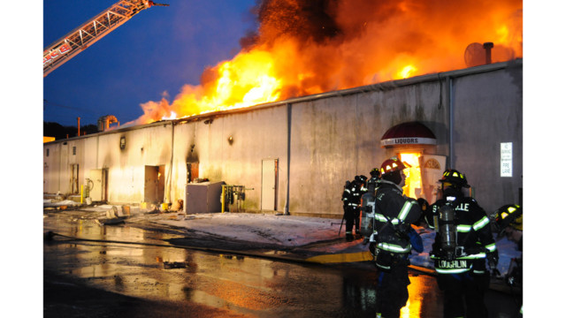 Photo Story: N.J. Crews Tackle Strip Mall Fire