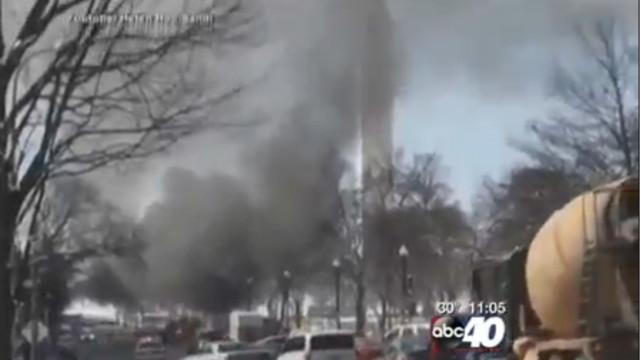 Vending Cart Fire Erupts Near White House