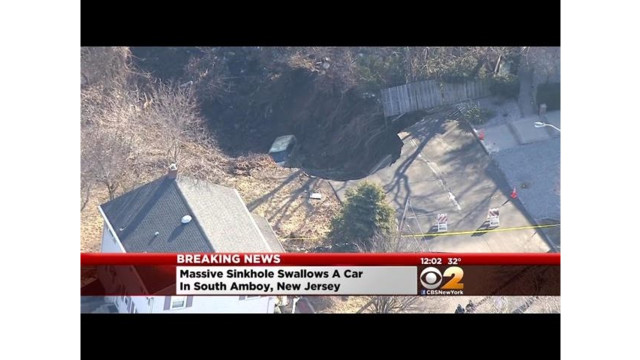 N.J. Homes Evacuated After Huge Sinkhole Opens Up