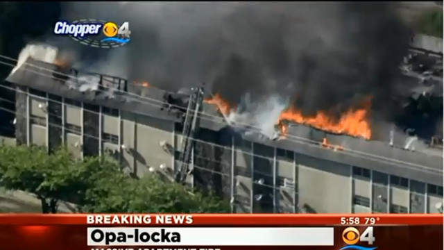 Massive Fire Rips Through Opa-Locka Apartment Building