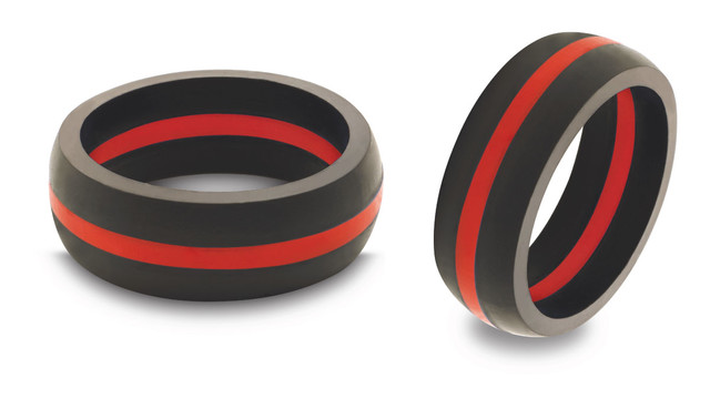 Thin Red Line Silicone Wedding Ring