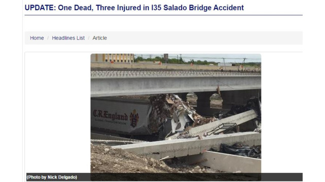 One Dead in Texas Bridge Collapse