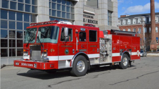 Fitchburg, Mass.,  Takes Delivery of Custom Pumper
