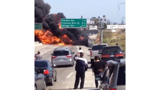 Calif. Freeway Closed by Tanker Blaze