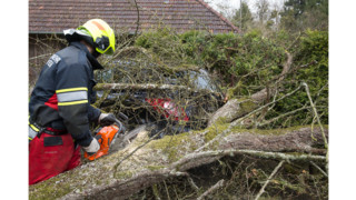 Photo Story: Storm Keeps Austrian Firefighters Busy