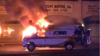 Crew, Patient Escape Burning Ambulance in San Diego