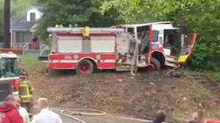 Atlanta Firefighters Injured in Fire Truck Wreck