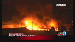 Flames Destroy Grand Rapids Business