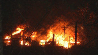 Crews Battle Warehouse Fire on Tonawanda Island