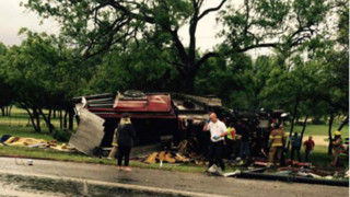 Horrific Fire Truck Wreck in Texas Hurts Five Firefighters