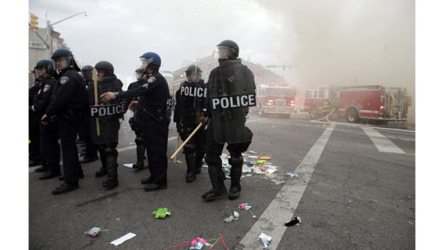 Photos: Baltimore Firefighters Battle Fires Amid Riots