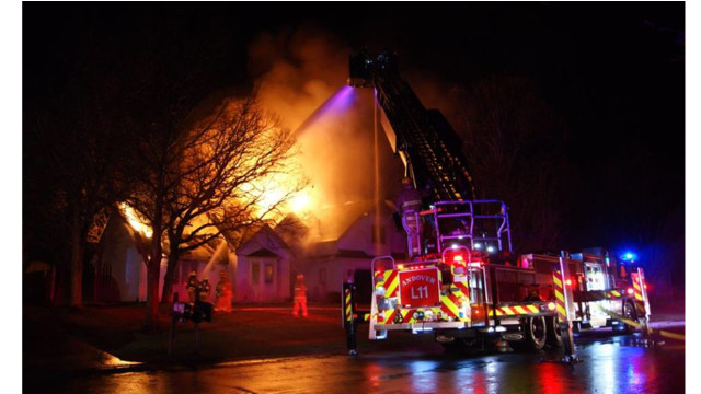 Photo Story:  Defensive Attack Used on Minn. Fire