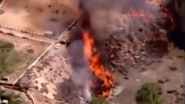 Apple Valley, Calif.,  Fire Started as Control Burn