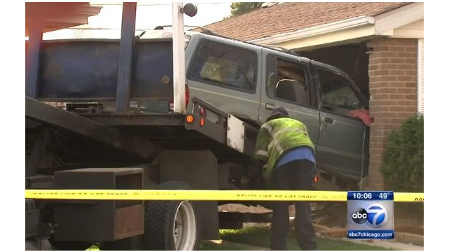 Chicago Firefighter Does CPR When SUV Slams into His Home