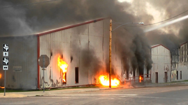 Blaze Consumes Two Buildings at Texas Business