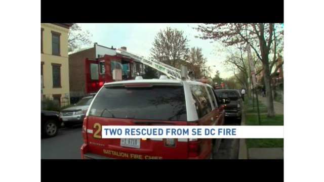 D.C. Firefighters Rescue Two from Fire