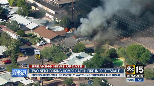 Winds Whip Ariz.. House Fire