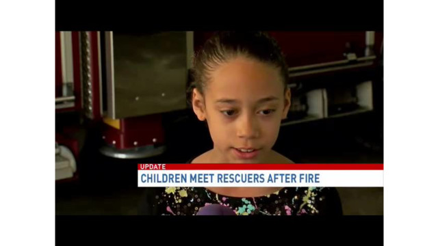 Children Meet, Thank Md.  Rescuers After Fire