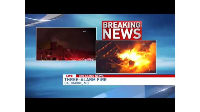 Multi-alarm Fire Burns in Baltimore