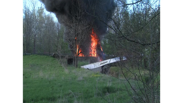 Fire Destroys Ind. Bridge