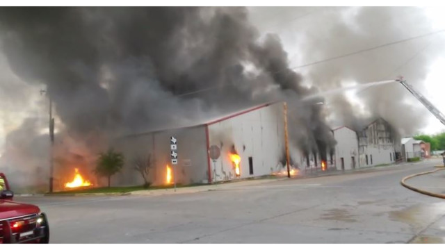 Fire Destroys Two Buildings at Texas Plant